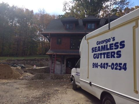 Seamless Gutters - Seamless Gutters Seamless Gutters - Westchester At George's Seamless Gutters, all of our gutters are seamless and are custom-crafted at our shop in Elmsford, NY or in the back of one of our mobile box-trucks on the job site. All of our gutters are seamless gutters and are made to order and customized for each job, ensuring you always get the right gutter for your project, no matter the size of your home or it's style. Our practice of fabricating and installing fully custom gutters onsite allows us to have perfectly seamless gutters - every-time. Every home is different–there is no one size fits all gutter or gutter system, and that is fine by me, because I understand the importance of gutters and see gutter installation as a craft. Because all of my gutters are seamless, they are sturdier and transfer water without joints that may become warped or rusted over time. With seamless gutters, there is less of a chance of leaking because there are fewer areas that can break or warp. My team and I will make all the proper measurements to ensure we install the right gutter system for your home or commercial building.