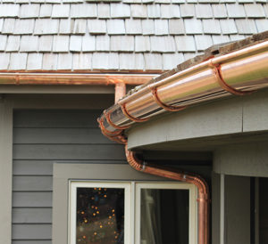 Copper gutters Stamford CT